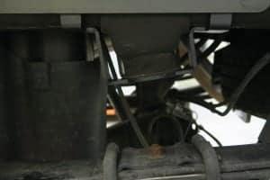 Upper bracket installed